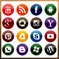 Символы сервисов интернета